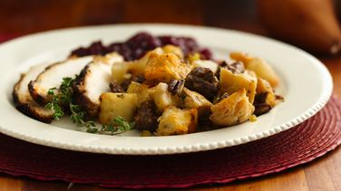 Pear-Chorizo Stuffing