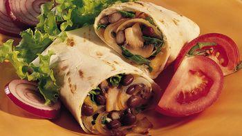 Bean and Veggie Wraps