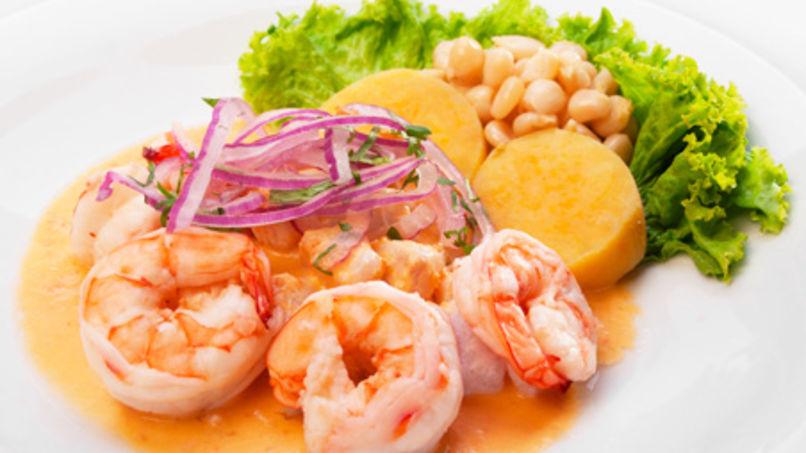 receta ceviche de camarones peruano
