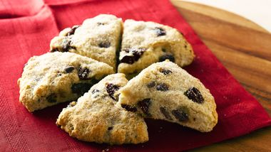 Chocolate Chip-Cherry Scones