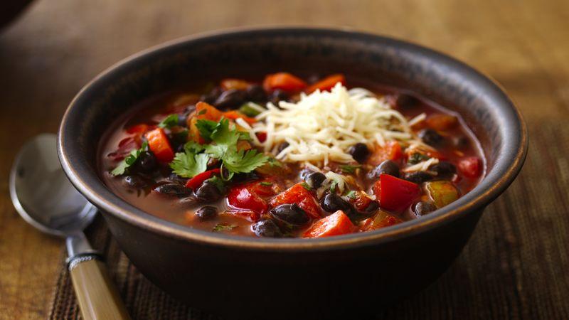 Gluten-Free Black Bean Chili with Cilantro