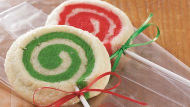 Mint-Swirl Lollipop Cookies
