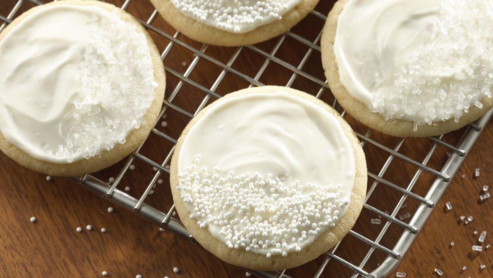 Glazed Whiteout Cookies