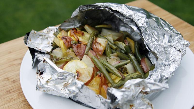 Grilled Summer Veggie Foil Pack