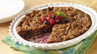 Impossibly Easy Mixed-Berry Crumble Pie