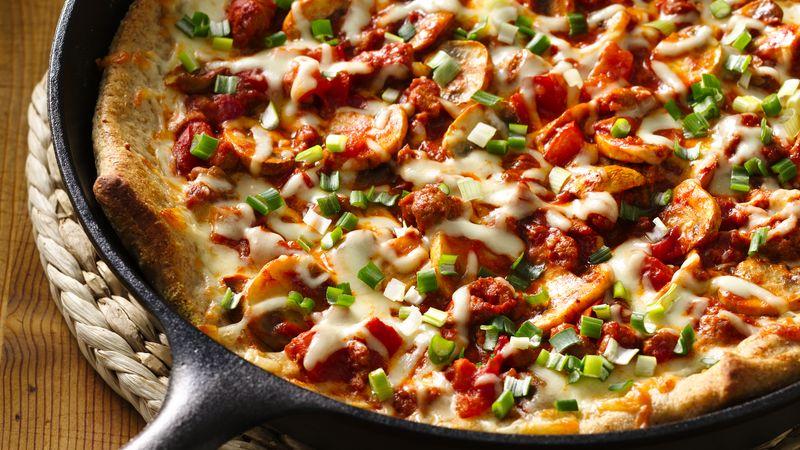 Veggie and Sausage Skillet Pizza