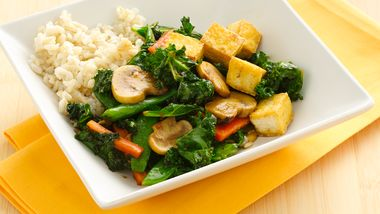 Gluten-Free Asian Kale and Tofu Stir-Fry