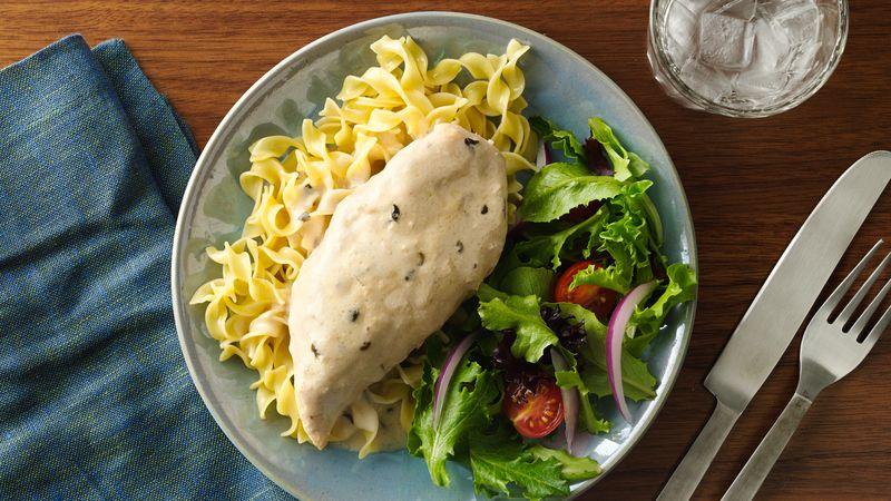 Slow-Cooker 3-Ingredient Creamy Italian Chicken