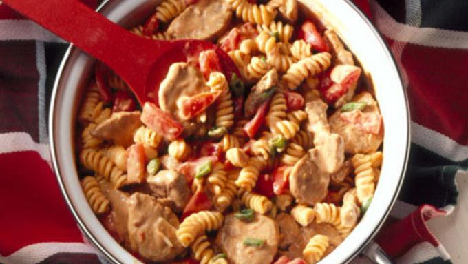 Spicy Peanut Butter-Pork Pasta