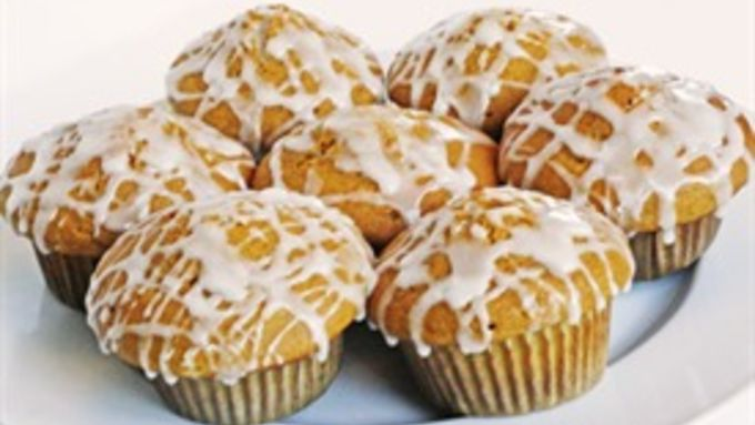 Vanilla Glazed Pumpkin Muffins recipe - from Tablespoon!