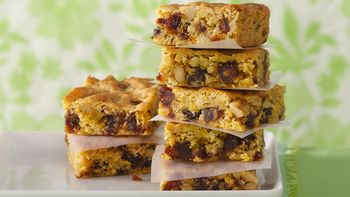 Chewy Orange-Date Bars