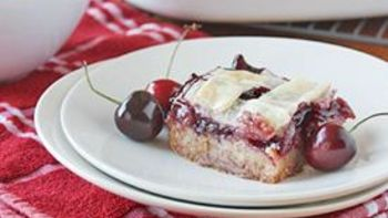 Lattice-Topped Cherry Pie Bars