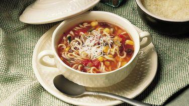 Black Bean and Salsa Noodle Soup