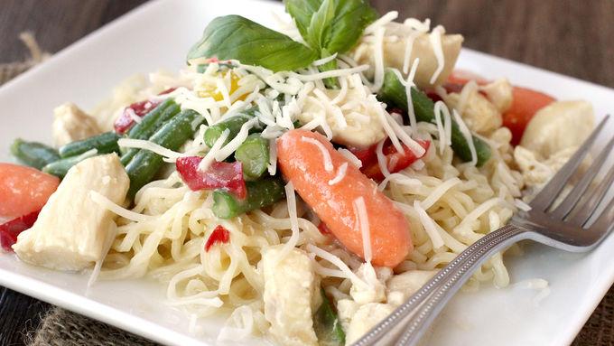 Quick Chicken & Veggie Pasta