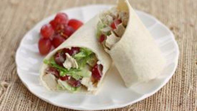 Chicken Chunk-Grape Lunchbox Wrap Sandwich