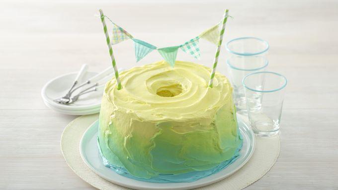 Watercolor Ombre Cake