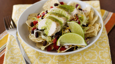 Tex-Mex Salad with Cilantro-Honey Dressing