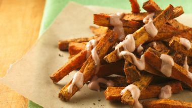 Cajun Sweet Potato Fries with Yogurt Dipping Sauce