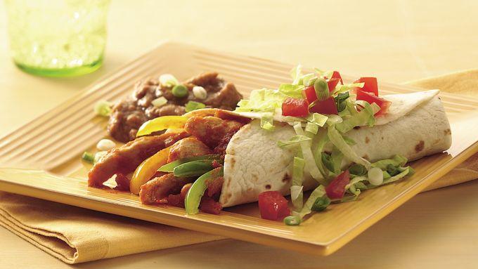 Easy Salsa Chicken Burritos
