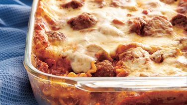 Meatball Lasagna recipe from Betty Crocker
