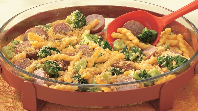 One-Dish Macaroni and Cheese with Sausage