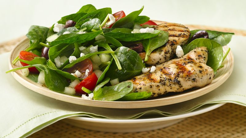 Grilled Greek Chicken Salad