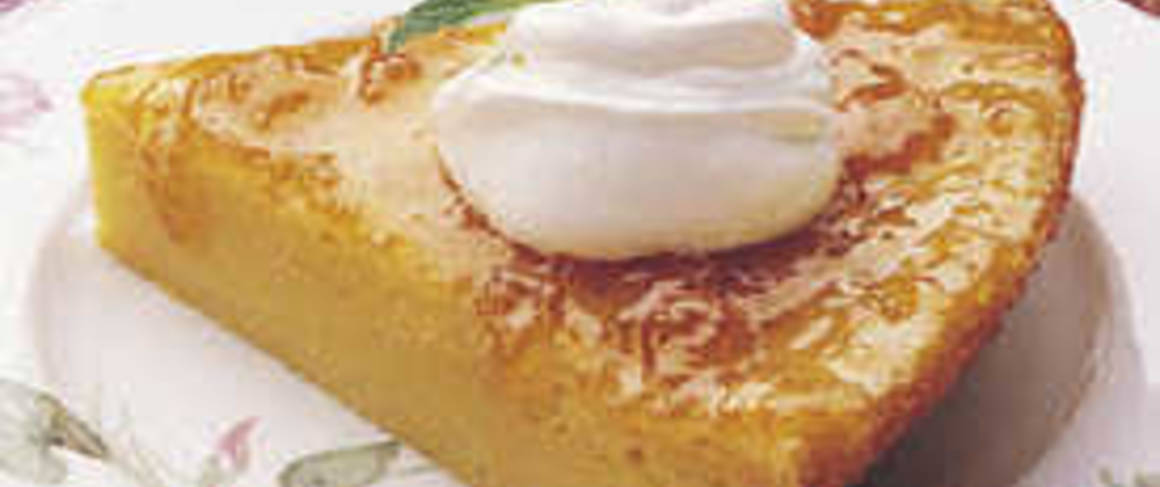 Impossibly Easy Apricot Pie recipe from Betty Crocker