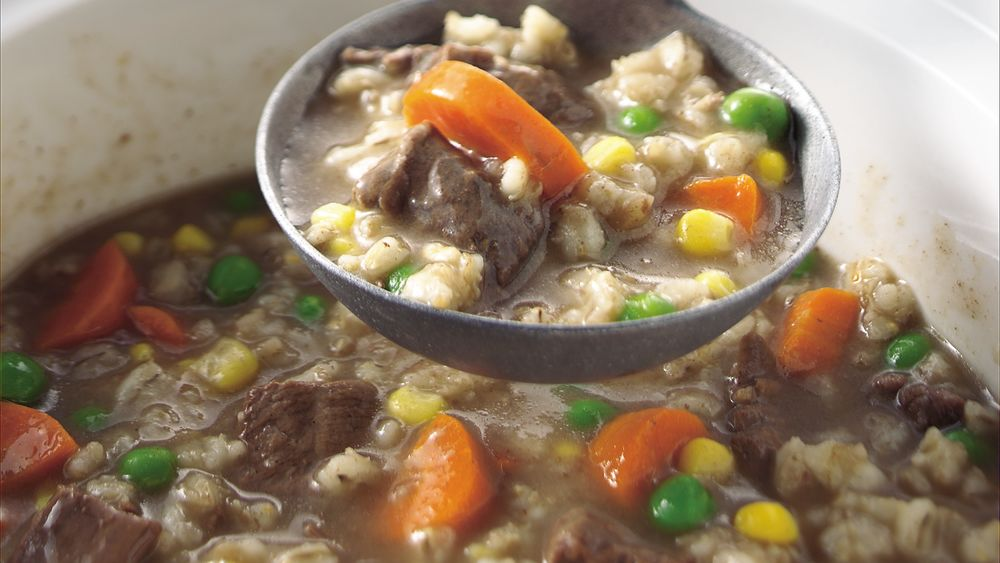 Slow-Cooker Beef and Barley Soup recipe from Pillsbury.com
