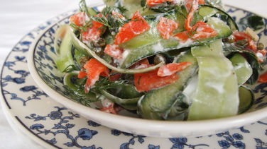 Cucumber Salmon Pappardelle