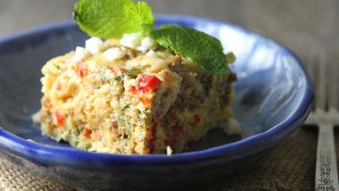 Slow-Cooker Crustless Mediterranean Quiche
