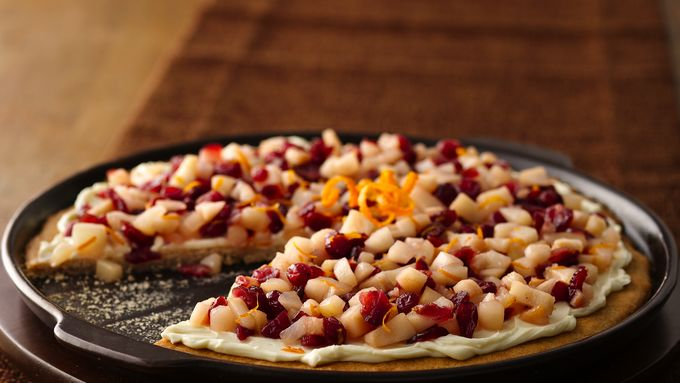 Pear and Cranberry Fruit Pizza