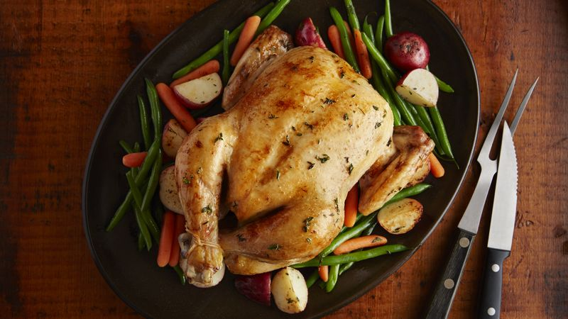 oven roasted chicken breasts and vegetables recipe