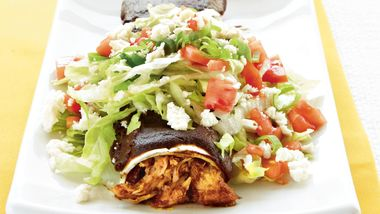Chicken Mole Enchiladas Supreme