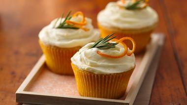 Orange-Rosemary Cupcakes