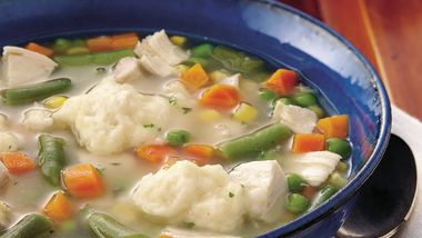 Chicken-Vegetable Soup with Dumplings