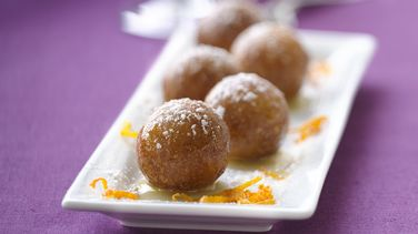 Cardamom Donut Holes in An Orange Glaze