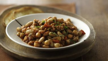 Italian Three Bean and Sausage Casserole
