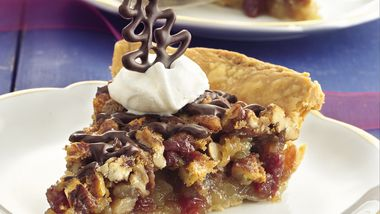 Chocolate-Glazed Cherry-Pecan Pie