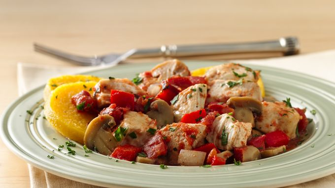 Cacciatore Chicken with Polenta