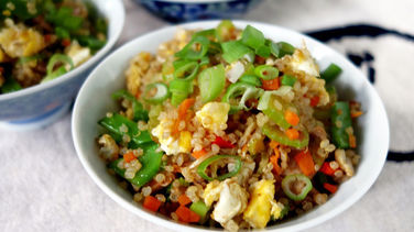 Chaufa de Quinoa y Pollo