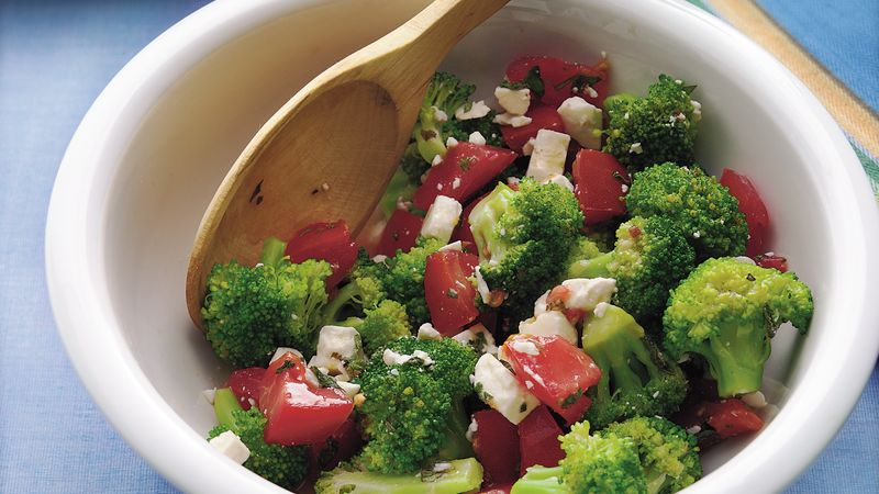 Broccoli, Feta and Tomato Salad