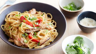 One-Pot Sesame Chicken Noodles