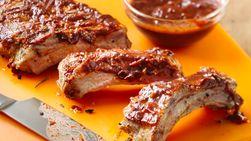 Rosemary Pork Ribs with Tamarind and Chile Guajillo Sauce