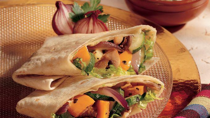 Roasted Vegetable Wraps with Garlic Aioli