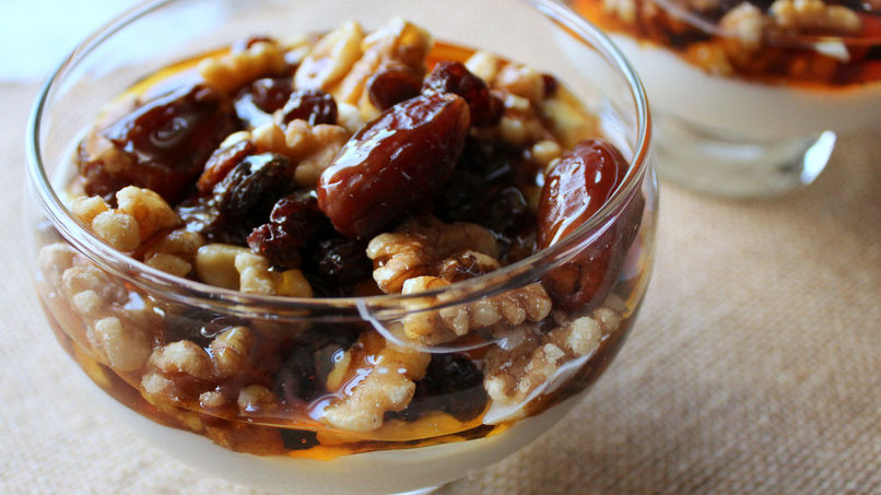 Greek Yogurt with Dried Fruit and Honey