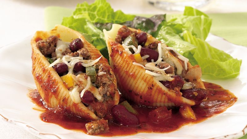 Minestrone-Stuffed Shells