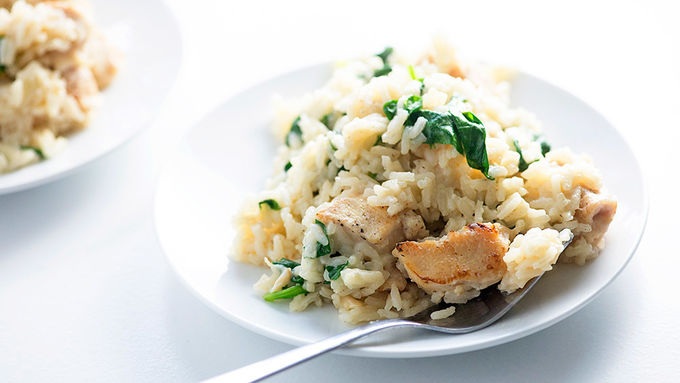 One-Pot Creamy Garlic Chicken and Rice