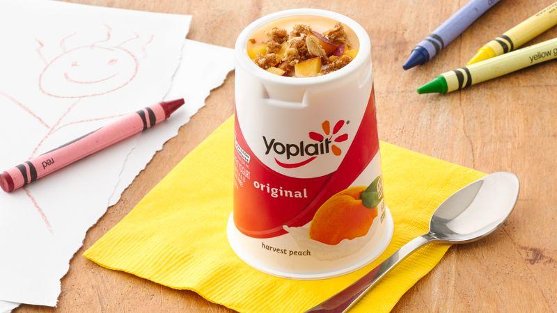 Peachy Keen Yogurt Crisp