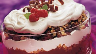 Caramel Cream Brownie Trifle