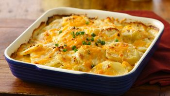 Cheddar Potato Gratin